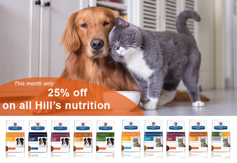 25% off on all Hill's pet nutrition